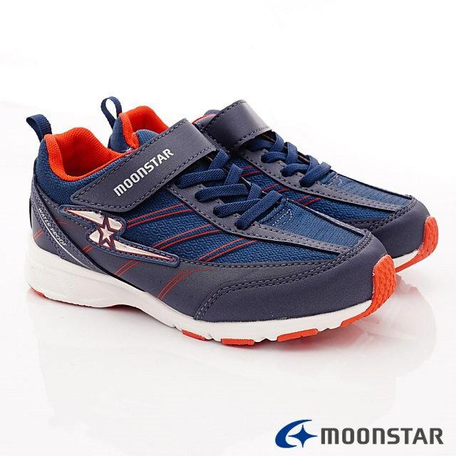 日本Moonstar機能童鞋 防水系列運動鞋 9295深藍(中大童段) 1
