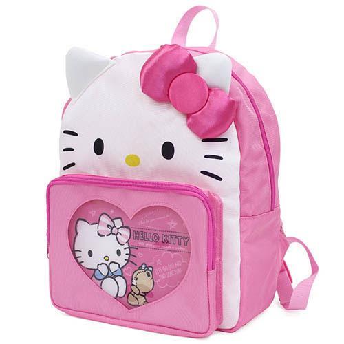 大賀屋 hellokitty 後背包 雙肩包 媽媽包 書包 背包 KT 凱蒂貓 三麗鷗 日貨 正版 授權 L00010616