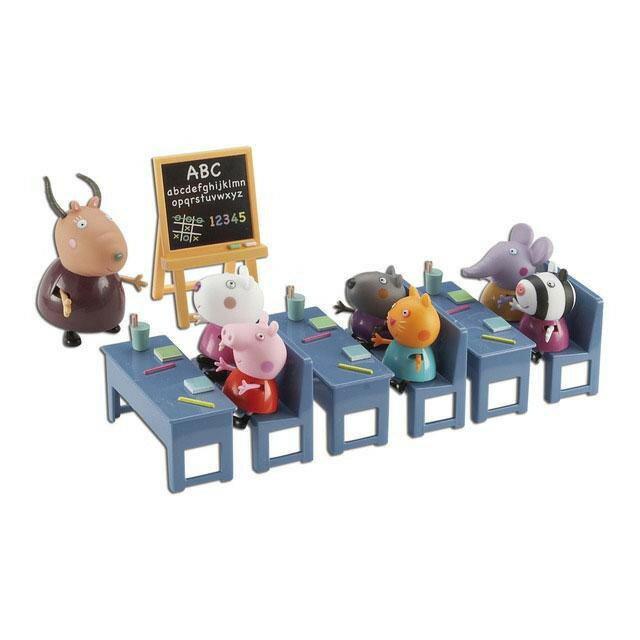 【崑山玩具x日韓精品】粉紅豬小妹-粉紅豬教室組(7入人偶)/佩佩豬/Peppa Pig