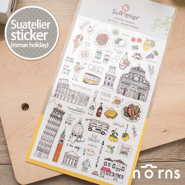 NORNS 【Suatelier sticker(roman holiday)】貼紙 手帳 行事曆 拍立得照片