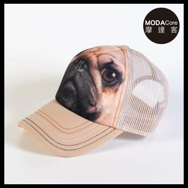 【摩達客】(預購)美國進口TheMountain巴哥犬臉藝術棒球帽網帽5-Panel新五分割帽