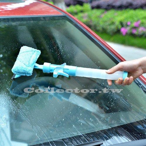 【F15082701】多功能可噴水擦窗戶洗車玻璃清潔器 擦窗器 雙面刮玻璃清潔器