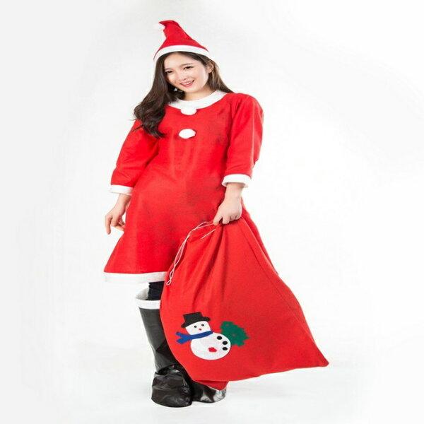 塔克玩具百貨:聖誕節耶誕節聖誕服聖誕戲劇服成人女套裝(3件組)耶誕服裝聖誕節服裝【塔克】
