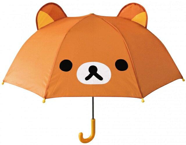 【真愛日本】16080400022立體造型雨傘47cm-懶熊大臉  SAN-X 懶熊 奶熊 拉拉熊 雨晴傘 造型傘