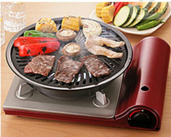 【買岩谷送岩谷】日本岩谷Iwatani超薄卡式爐 酒紅色TAS-1 贈岩谷烤盤 1