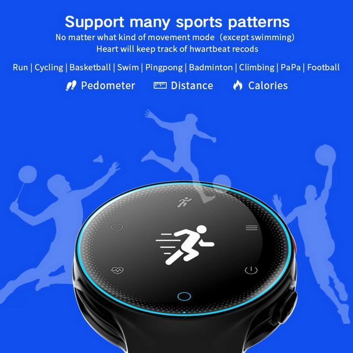 Bluetooth Smart Watch Heart Rate Monitor Blood Pressure Waterproof Smartband 5