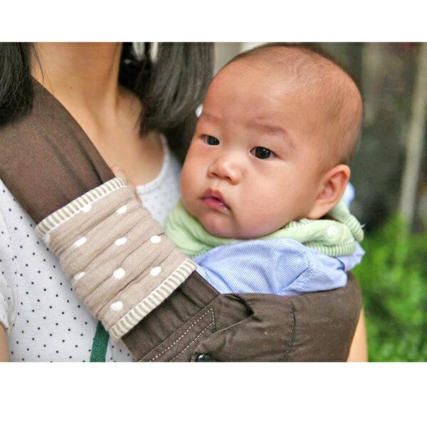 ollobaby瓦吉司 - HiBOU喜福 - 六層紗背巾口水巾 (水玉紅) 6