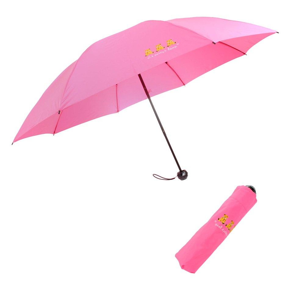 三隻小熊 鑽石頭 超潑水 秒收晴雨 反向傘 5