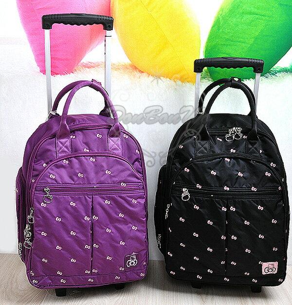 KITTY行李箱旅行箱登機箱拉桿蝴蝶結多圖紫色591721黑591868海渡
