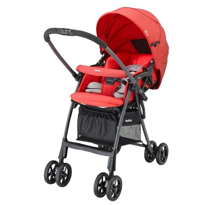 聰明媽咪婦嬰用品 愛普力卡 Aprica Luxuna light CTS 挑高型座椅超輕盈系列嬰幼手推車-熱情森巴