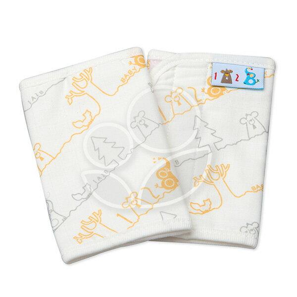 1A2B紗布揹巾口水巾-黃灰線條【悅兒園婦幼生活館】