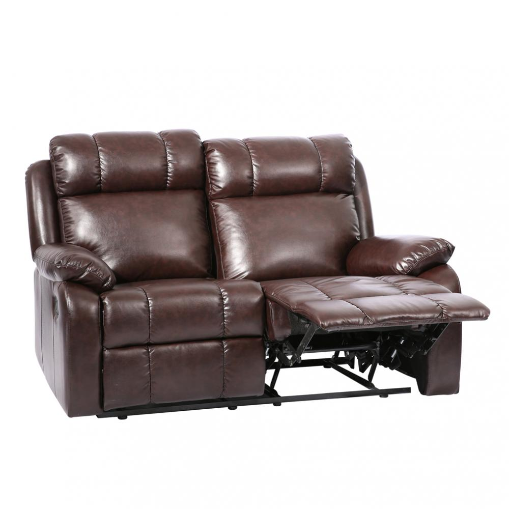 with leather double com loveseat center reclining bonded dp kitchen homelegance brown console amazon glider dining