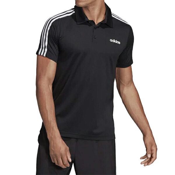 【DT3048】ADIDAS NEO 短袖 POLO衫 短袖上衣 吸濕排汗 三線 黑白 男生