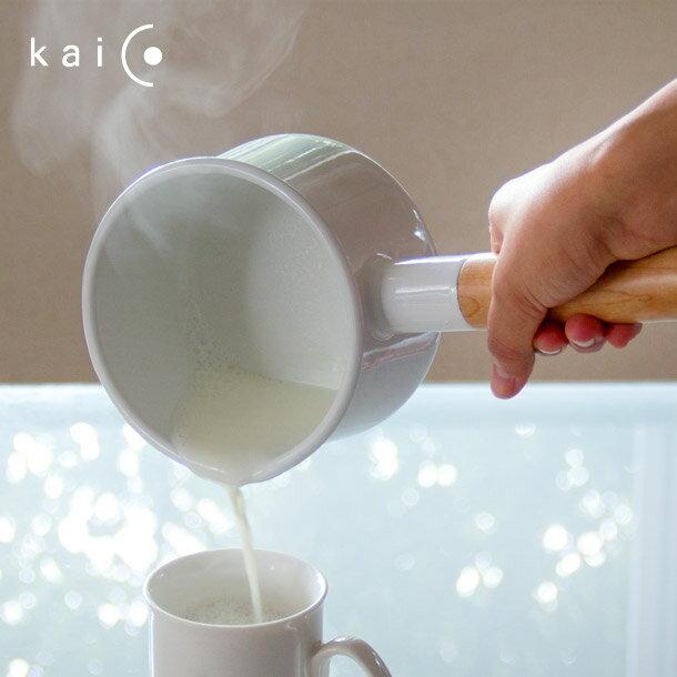 【This-This】日本 kaico  簡約風 琺瑯牛奶鍋‧M尺寸(1.45L)