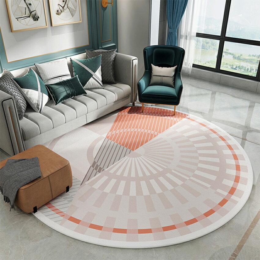 北歐輕奢風圓形地毯(120*120) 地毯 吸水墊 腳踏墊 踏墊 3
