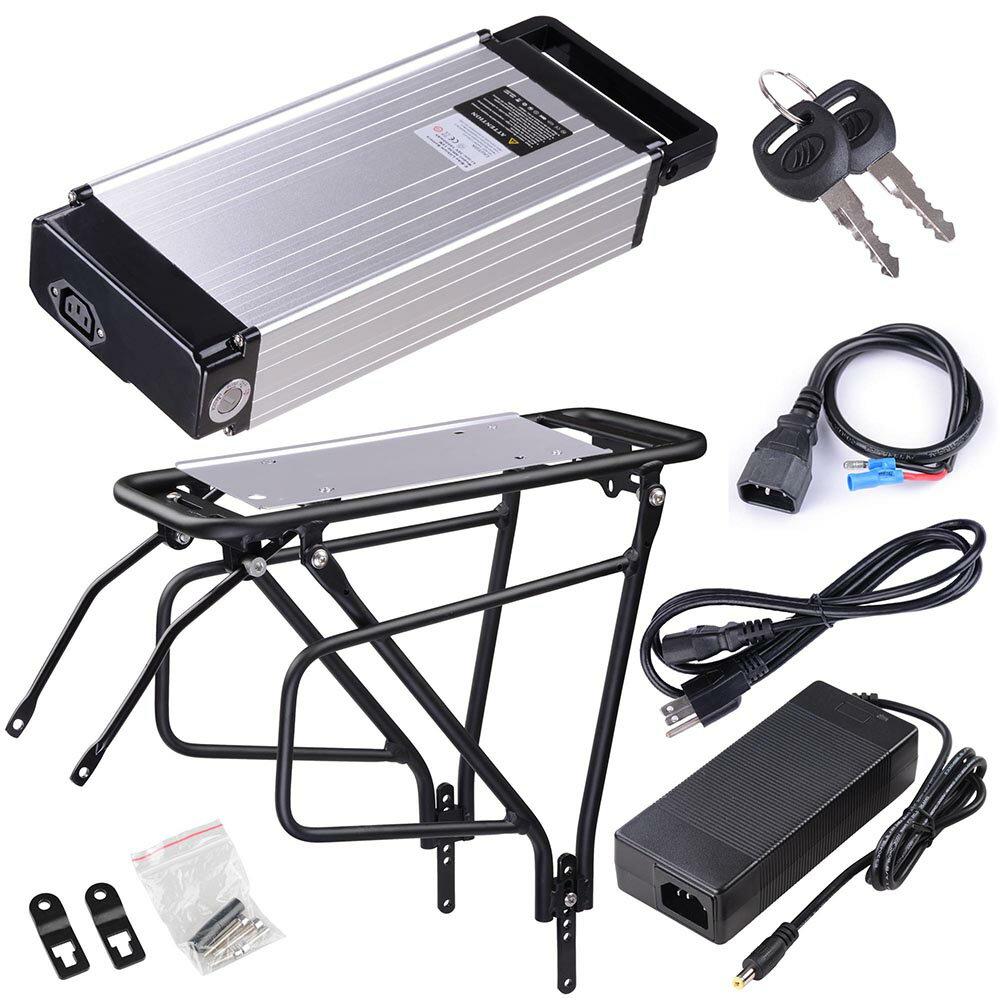 36V 14AH Li-polymer Battery Lithium Back Rack for Electric Scooter Bike  Motor Kit