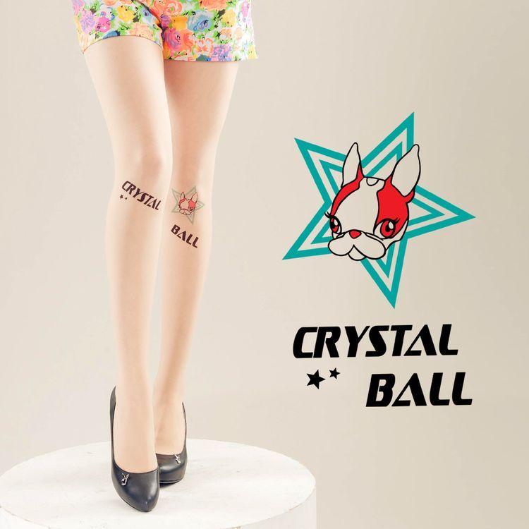 Meinas美娜斯 Crystal Ball 時尚五角星褲襪《消費Crystal Ball 褲襪贈200D天鵝絨花紋褲襪壹雙》 透明色
