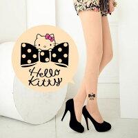 凱蒂貓週邊商品推薦到Meinas美娜斯 時尚蝴蝶結Hello Kitty褲襪透明色