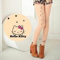 凱蒂貓週邊商品推薦到Meinas美娜斯 星星撒落Hello Kitty褲襪透明色