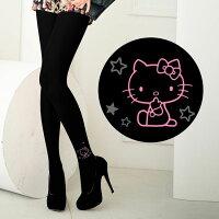 凱蒂貓週邊商品推薦到Meinas美娜斯 I LOVE星星 Hello Kitty褲襪黑