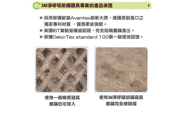 3M 淨呼吸防蹣床包套-單人3.5x6.2 (AB2114) 2