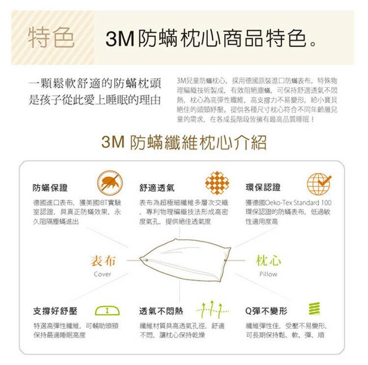 3M 淨呼吸小童防蹣枕心-附純棉枕套-6-11歲適用(超值2入組)  - 2