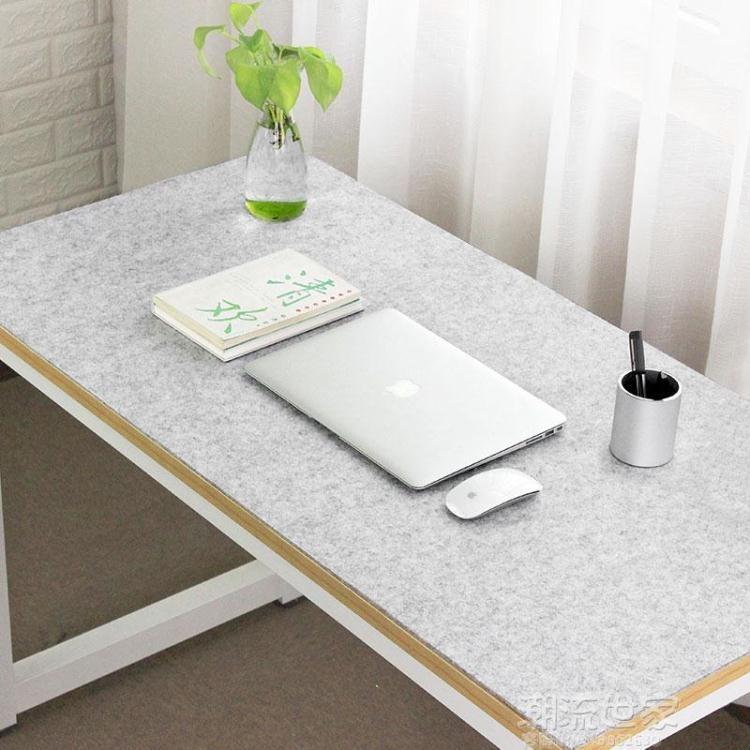 定制毛氈桌墊 筆記本電腦墊超大號滑鼠墊寫字墊鍵盤墊辦公桌墊