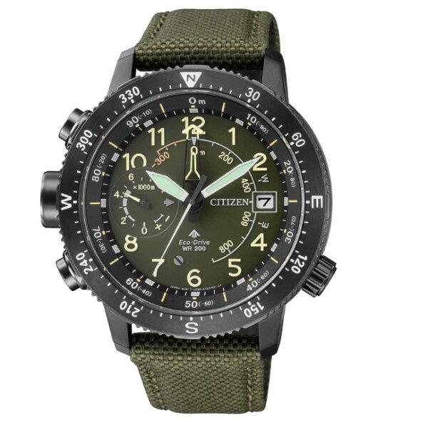 CITIZEN星辰錶BN4045-12X指南針高度測量光動能登山腕錶46mm