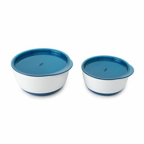 OXO tot 防滑加蓋大小碗組(海軍藍)★愛兒麗婦幼用品★