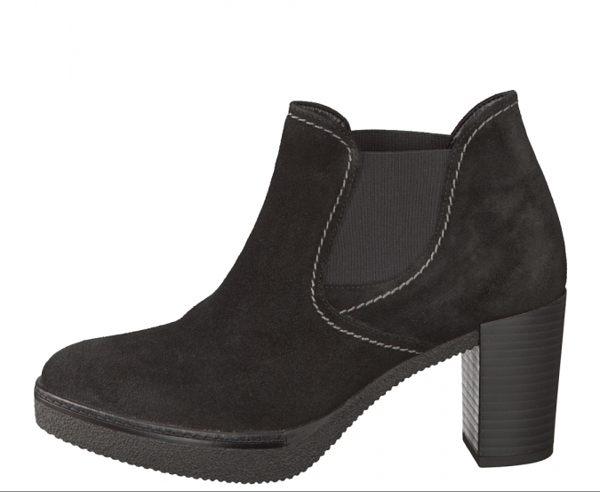 Gabor 縫紋交露踝時尚跟靴 黑 粗跟│中跟│寬楦│皮革 6