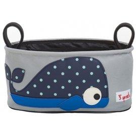 【淘氣寶寶】加拿大 3 Sprouts推車置物袋-小鯨魚【超大容量置物袋,可調式魔鬼氈】【保證公司貨●品質保證】