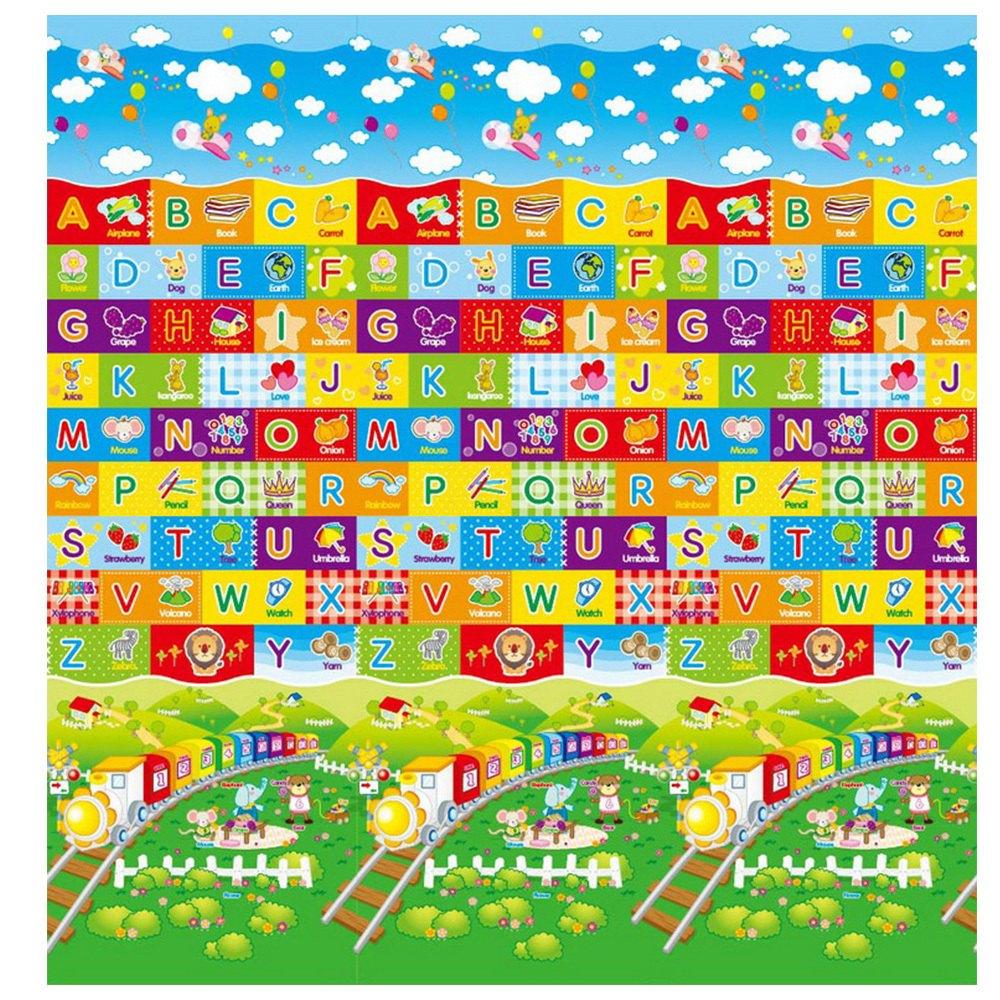 泰山美龍 兒童遊戲地墊 (火車ABC+動物樂園) 180*200*1.5cm【紫貝殼】 2