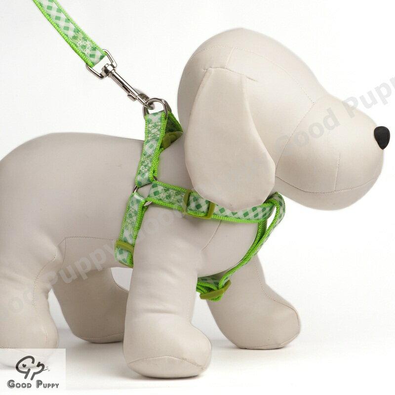 【Good Puppy】5分尼龍緞帶胸背帶+拉帶~多種顏色圖案