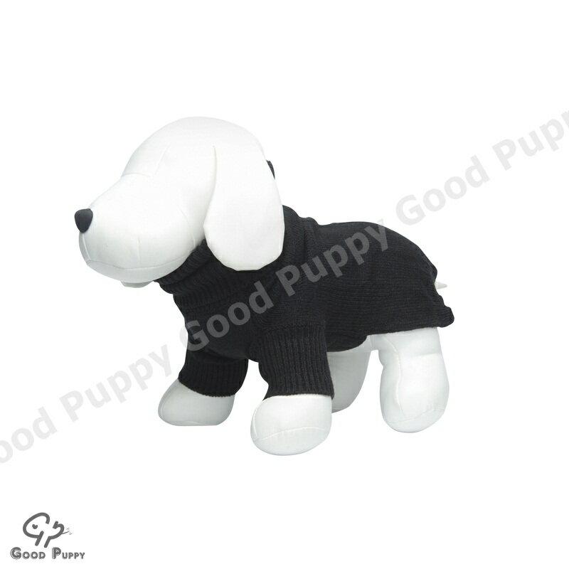 【Good Puppy】寵物禦寒衣物-MIT犬貓套頭毛衣.秋冬保暖必備服飾.柔軟舒適-S.M.L(黑色)