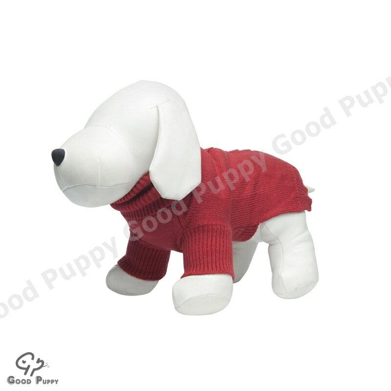 【Good Puppy】寵物禦寒衣物-MIT犬貓套頭毛衣.秋冬保暖必備服飾.柔軟舒適-S.M.L(紅色)