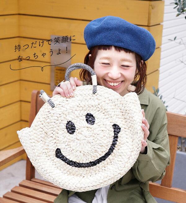 日本e-zakka / 圓型微笑編織手提包 / 21591-1801074 / 日本必買 代購 / 日本樂天直送(5900) 1