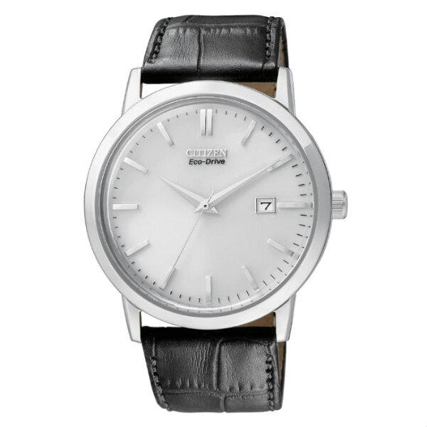 CITIZEN星辰錶BM7190-05A復古爵士簡約光動能腕錶白面40mm