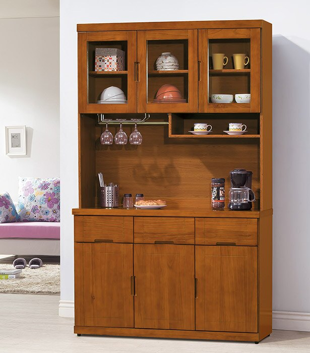 ~尚品傢俱~HY~A404~01 凱西柚木4尺餐櫃