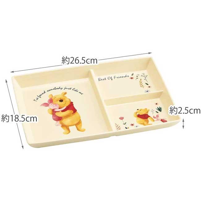 方形三格美耐皿餐盤 迪士尼 小熊維尼 POOH Skater 餐具 日本進口正版授權
