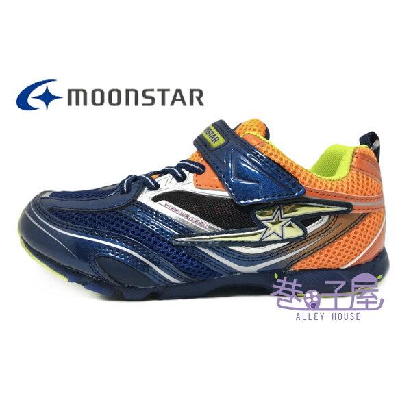 【巷子屋】Moonstar月星童款SUPERSTAR系列健康機能運動鞋[6737]深藍超值價$690