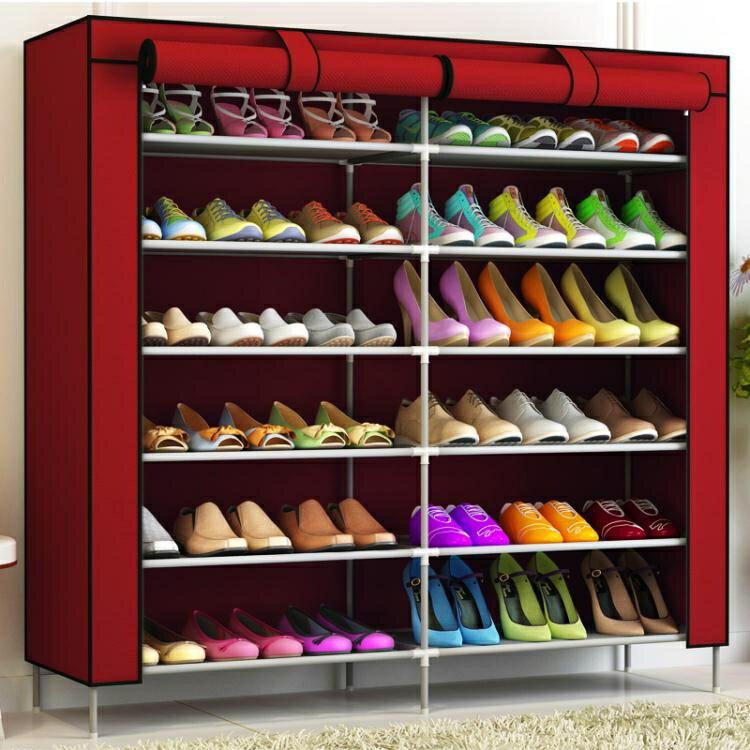 鞋架 壹櫃鞋架多層牛津布鞋櫃收納宿舍防塵簡易組裝家用經濟型簡約現代YTL【概念3C】