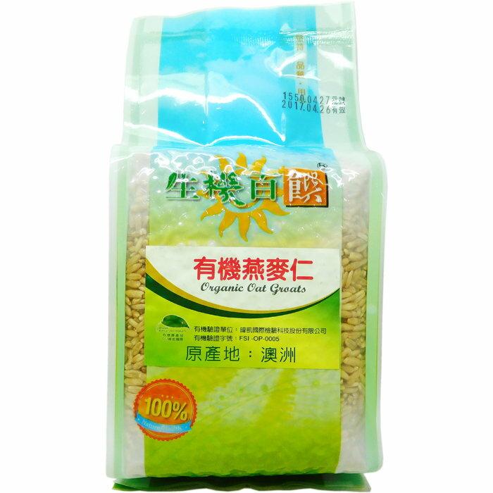 《小瓢蟲生機坊》生機百饌 - 有機燕麥仁 500g/包 穀物