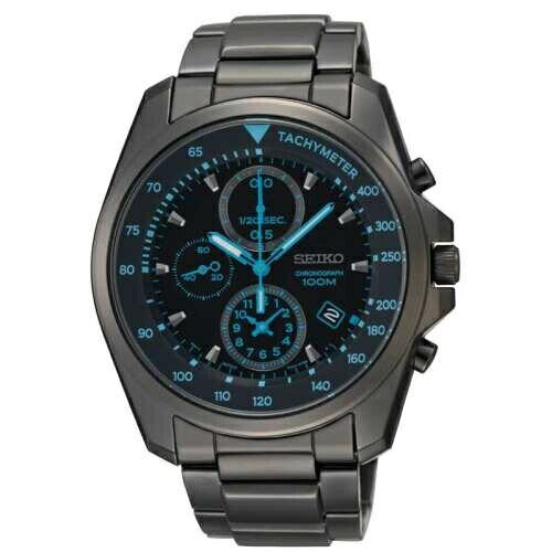 SEIKO勁速玩家三眼計時腕錶黑鋼SXGP21P1(7T92-0NK0SD)