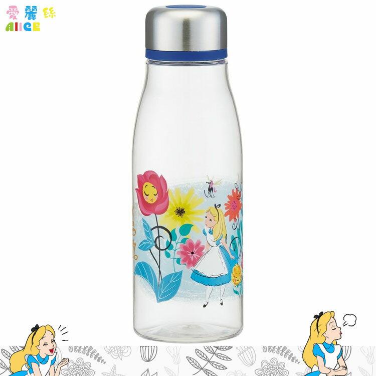 迪士尼 愛麗絲 ALICE 塑膠保冷水壺保冷杯隨身杯 透明瓶身 附濾茶網 500ml 日本進口正版 356148