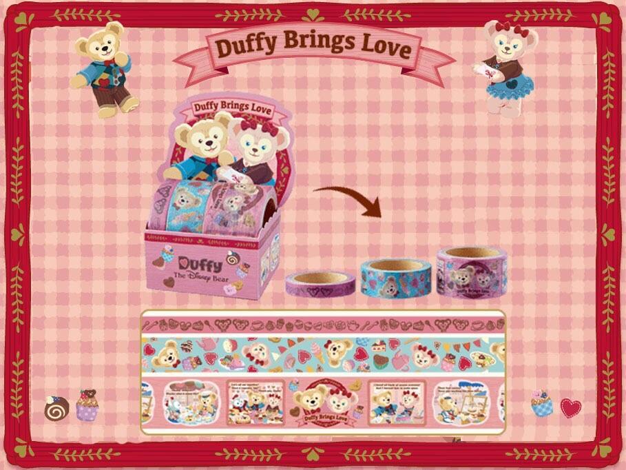 【真愛日本】16012800018 甜蜜情人節-三入紙膠帶組 2016情人節 達菲 雪莉玫 Duffy熊 文具 紙膠