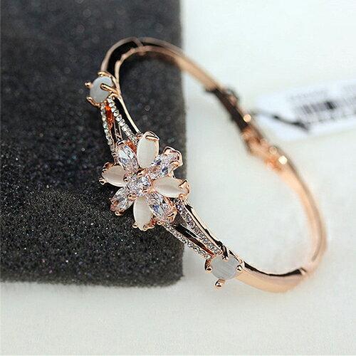 手環 - 韓版氣質花朵水鑽手鐲【21556】 藍色巴黎 - 現貨+預購 1