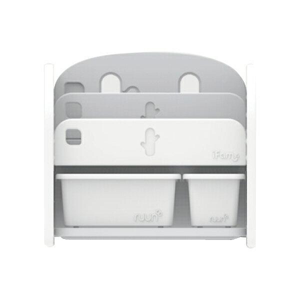 韓國 IFAM 書架收納組(白色收納盒x2)白色