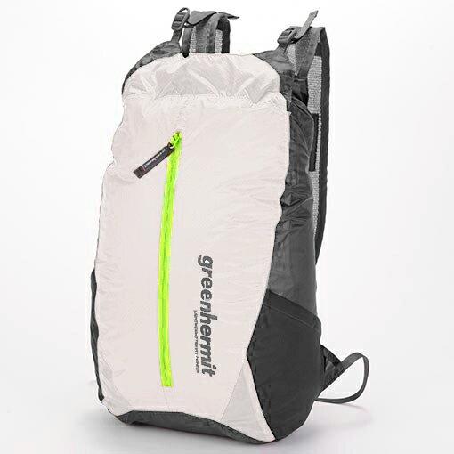 GREEN HERMIT ZIP-DRY 防水背包拉鍊式 S /綠 橘 白 OD5116 露營 登山