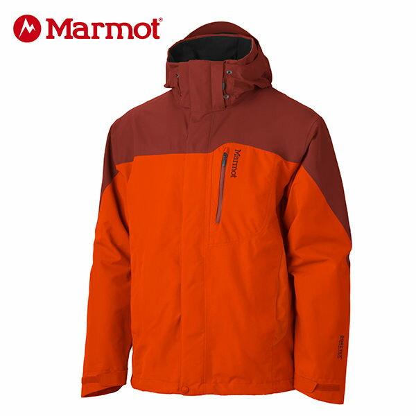 【桃源戶外】Marmot 男GORE-TEX │防水│防風│透氣│羽絨│雪衣30420『橘色/紅橘色』