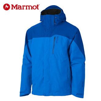 【桃源戶外】Marmot 男GORE-TEX │防水│防風│透氣│羽絨│雪衣30420『深藍/天藍』